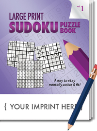PUZZLE PACK LARGE PRINT Sudoku Puzzle Book Set - Volume 1