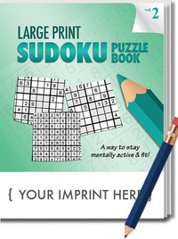 PUZZLE PACK LARGE PRINT Sudoku Puzzle Book Set - Volume 2