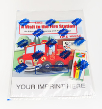 A Visit to the Fire Station Coloring Activity Book Fun Pack
