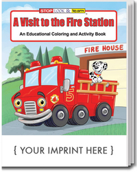 A Visit to the Fire Station Coloring and Activity Book