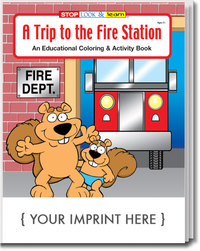 A Trip to the Fire Station Coloring and Activity Book