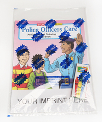 Police Officers Care Coloring and Activity Book Fun Pack