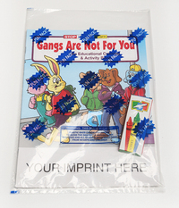 Gangs Are Not For You Coloring and Activity Book Fun Pack