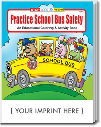 Practice School Bus Safety Coloring and Activity Book