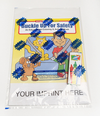 Buckle Up For Safety Coloring and Activity Book Fun Pack