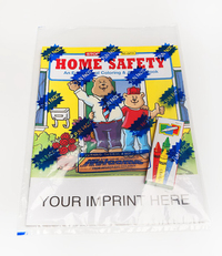 Home Safety Coloring and Activity Book Fun Pack
