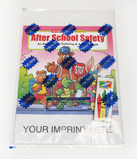 After School Safety Coloring and Activity Book Fun Pack