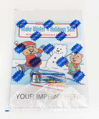 Make Winter & Holidays Safe Coloring Book Fun Pack