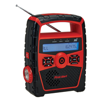First Alert Portable AM/FM Weather Band Radio with Clock