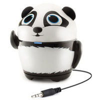GOgroove Portable Stereo Speaker-Panda Animal Design