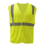 Class 2 Mesh Hook & Loop Safety Vest - Lime
