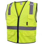 Class 2 Multi-Purpose Safety Vest w/6 pockets - Lime
