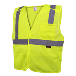 Class 2 Five Point BreakAway Safety Vest - Lime