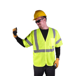 Class 3 Mesh Hook & Look Safety Vest - Lime