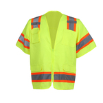 Class 3 Two Tone Surveyor Safety Vest - Lime