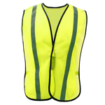 NON ANSI Vest with Elastic - Lime with Silver Tape