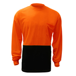 Non-ANSI Long Sleeve Safety T-Shirt With Black Bottom