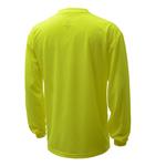 Non ANSI Enhanced Long Sleeve Safety T-Shirt - Lime