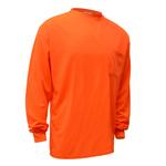 Non ANSI Enhanced Long Sleeve Safety T-Shirt - Orange
