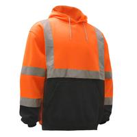 Class 3 Fleece Hooded Pull-over Safety Sweatshirt - Orange
