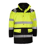 Waterproof Quilt-Liner Safety Parka / Fleece Liner - Lime