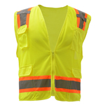 Class 2 Fall Protection Safety Vest - Lime