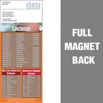 Cincinnati Full Color Football Schedule Vinyl Magnet