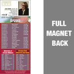 Arizona Full Color Football Schedule Vinyl Magnet