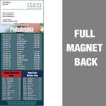 Philadelphia Full Color Football Schedule Vinyl Magnet