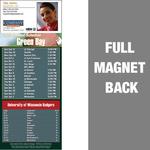 Green Bay Full Color Football Schedule Vinyl Magnet