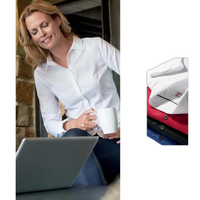 CB Long-Sleeved Ladies' Epic Easy Care Broken Twill