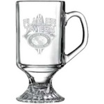 10 oz. Footed Glass Mug