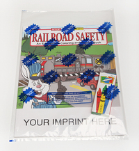 Railroad Safety Coloring and Activity Book Fun Pack