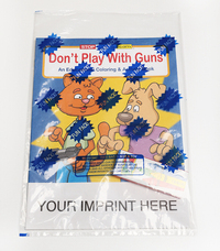Don't Play with Guns Coloring and Activity Book Fun Pack