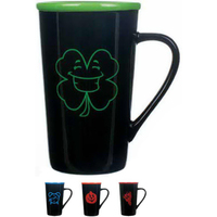 16 oz. Black Gloss Horizon with Green Color Rim
