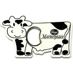 Jumbo size cow shape magnetic bottle opener