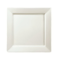 Plate Cream Square Shape Porcelain