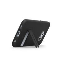 PureGear Slim Shell With Kickstand For Galaxy S6-Black/Black