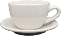 7oz Cappuccino Cup Saucer, blank