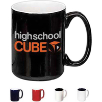 16 oz. Black New York Barrel Style Mug