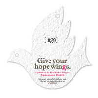 Breast Cancer Awareness Stock Art Shape Card - Dove2