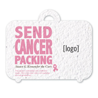 Breast Cancer Awareness Stock Art Shape Card - Suitcase