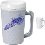 34 oz. White Thermo Mug