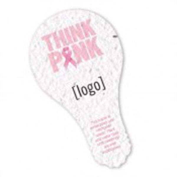 Breast Cancer Awareness Stock Art Shape Card - Lightbulb1