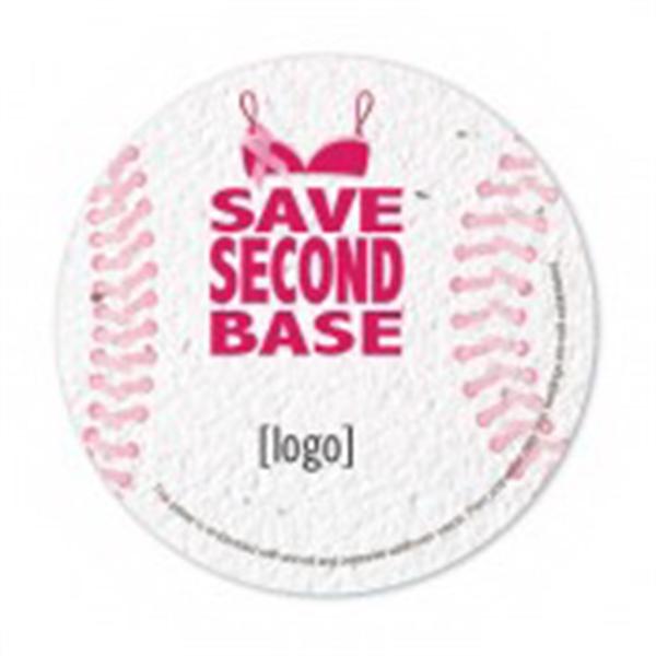 Breast Cancer Awareness Stock Art Shape Card - Baseball