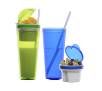 22oz Double Wall Travel Mug w/ Snack Container