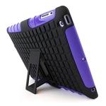 Hybrid Protection Kickstand Case For Apple ipad Air - PURPLE