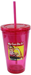 16oz Acrylic Breast Cancer Awareness Chiller Cup & Straw