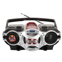 SuperSonic PORTABLE MP3 SPEAKER WITH USB/SD/AUX INPUTS, AM/