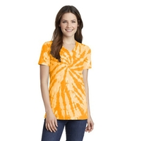 Port & Company Ladies Tie-Dye V-Neck Tee.